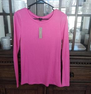 NWT J. Crew Pink Long Sleeve Blouse size Small